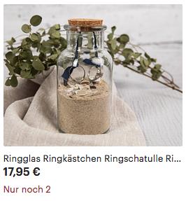 ringglas, ringkissen maritim mit Ostseesand